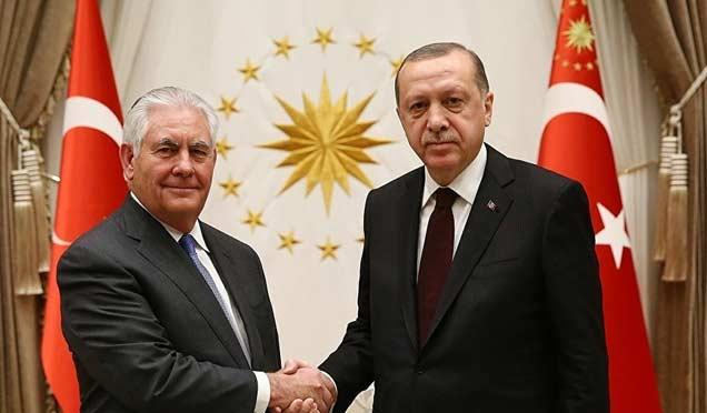 Erdoğan ile Tillerson görüşmesi bitti